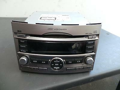 Subaru Liberty Radio/cd/dvd/sat/tv Panasonic 6 Stacker Cd Player, 5Th Gen, 09/09