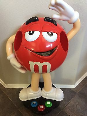 Red M&M Character Store Display- 3ft Tall