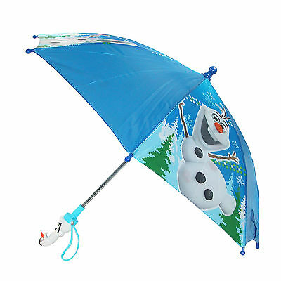 New Disney Kids' Frozen Olaf Stick Umbrella with Character Handle