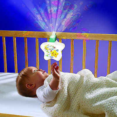 Tomy Starlight Dreamshow Musical Cot Toy Portable Baby Night Light Projector