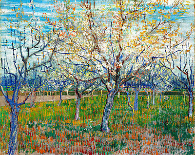 The Pink Orchard by Vincent van Gogh A1+ High Quality Canvas Print