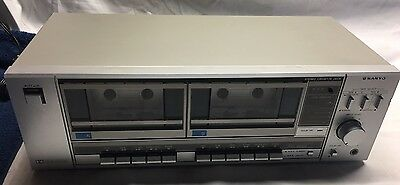 Vintage Sanyo RD W340 Audio Dolby Stereo Dual Tape Cassette Deck (BB-122)