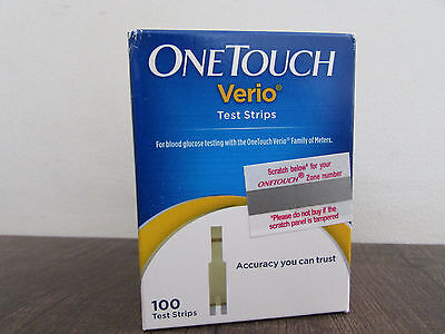 One Touch Verio Test Strips - Pack of 100 Strips Pack Expiry February 2020
