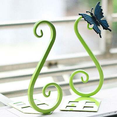 1 Pair of Butterfly Bookends Nonskid Bookrack Home Study Table Decor