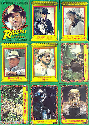 Raiders of the Lost Ark (Indiana Jones) - Complete Card Set (88) 1981 Topps - NM