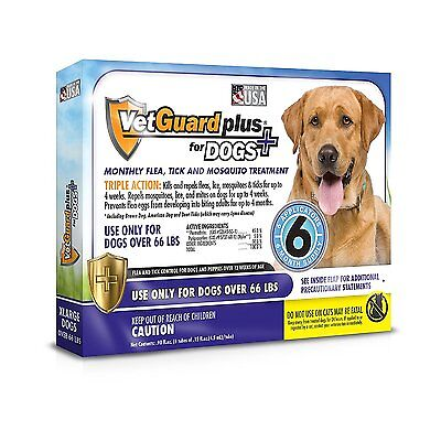 Vetguard Plus Flea & Tick Treatment For Xlarge Dogs Over 66 Lbs 6 Month