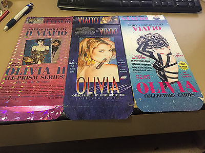 Olivia - 3x EMPTY CARD BOXES - NO PACKS - SHIPPED FLAT