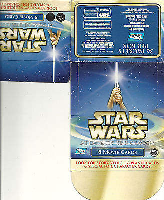 Star Wars Attack of the Clones - EMPTY CARD BOX - NO PACKS - SHIPPED FLAT