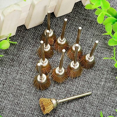 20pcs 15mm Brass Wire Brush cleaning metallic surface removing rust/corrosion