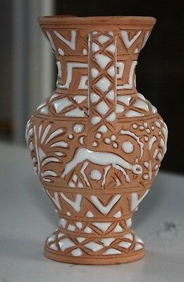Antique Rhodes Greece Ceramic Vase Creamer Icaros Pottery