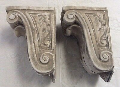 Vintage PLASTER of PARIS CORBELS, Shelves, Sconces, Shabby Chic, Cottage