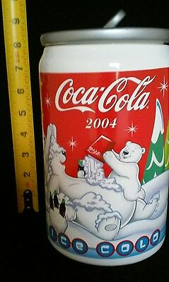 Coca-Cola Polar Bear Cookie Jar 64 oz.Ceramic Canister Coke Soda Pop Decor. 2004