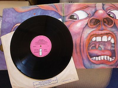 King Crimson In The Court Of Uk Pink Island Ilps-9111 A2/b4
