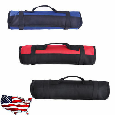 Wrench Bag Tool Roll Storage Pocket Tools Pouch Portable Case Organizer Holder