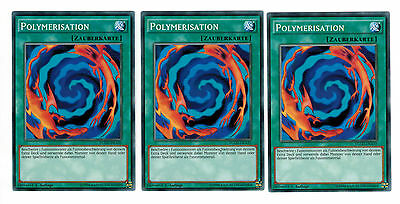3 x Polymerisation YGLD-DEA35, Common, Mint, Playset