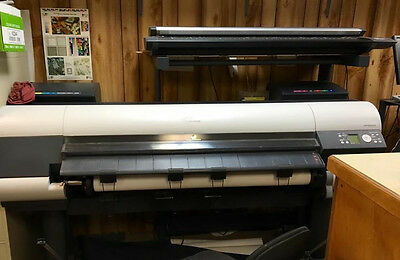 Canon 8000 IPF 8000 Wide Format Printer and Scanner, including multiple supplies