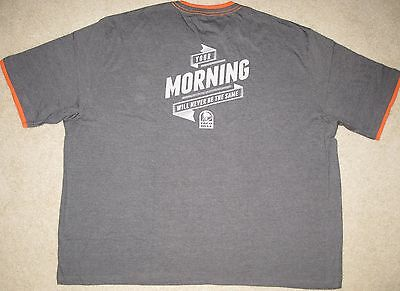 Taco Bell Your Morning Will Never Be The Same T-Shirt Breakfast Tee Mens 5Xl Nip