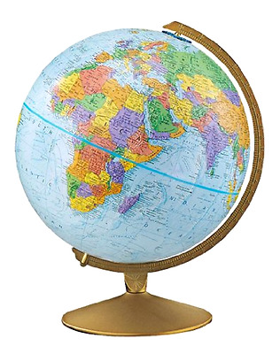 Desk Globe Explorer World Assorted Colors with Metal Base 12 Inches in Diameter