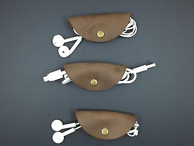 Cord Taco's - 3-pack - Brown Leather - Free Shipping