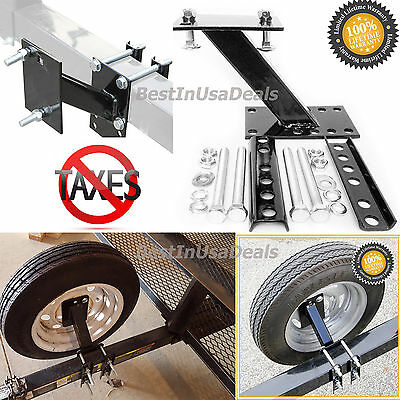 Spare Tire Wheel Mount Boat and Utility Enclosed Trailer Bracket Carrier Holder