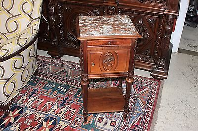Beautiful Louis XVI Antique French Walnut Nightstand / Side Table
