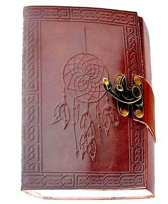 "Dreamcatcher & Celtic Knots Leather 7"" Linen Parchment Journal Book of Shadows"