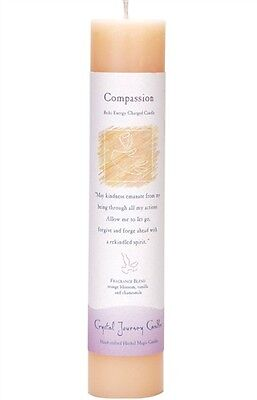 "Compassion - Handmade Herbal Magic Reiki Charged 7"" Ritual Spell Pillar Candle"