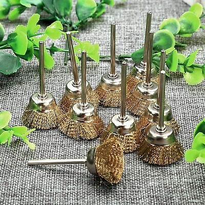 20pcs 25mm Brass Wire Bowl Wheel Brushes Cleaner Die Grinder Power Rotary Tools
