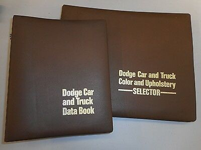 1972 Dodge Dealer showroom album set of Facts and Color/Upholstery