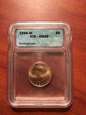 1996-W Smithsonian $5 Gold Coin MS69 ICG  Make Offer!!