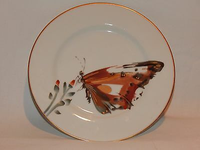 """FITZ AND FLOYD #158 White Butterfly """"Cho-Cho"""" 7.5"""" Salad Plate #3"""