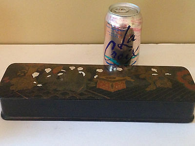 "Fine Meiji Japanese Box Makie Lacquer  LARGE 12""  AS IS"