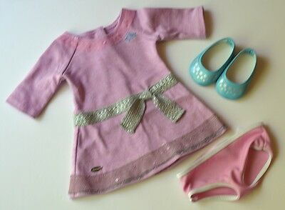 Retired Truly Me Lilac Meet Dress~Shoes~Panties! Fits American Girl Tenney~Lea!