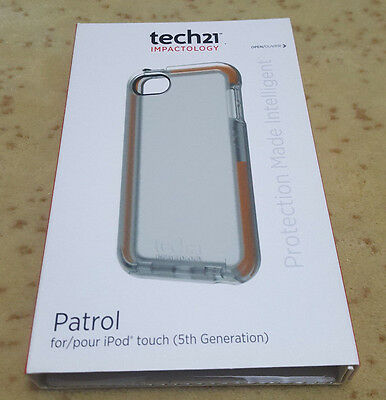 Genuine Tech21 D30 Patrol Case Cover for iPod touch 5th Generation -Clear *USED*