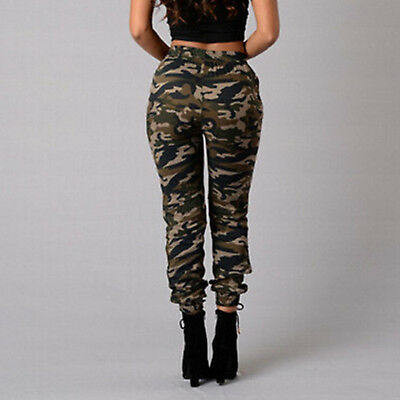 Fashion Women Military Army Style Pocket Leggings Camouflage Camo Casual Pants