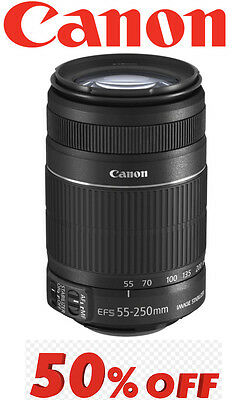 Canon Telephoto zoom lens EF-S55-250mm F4-5.6 IS II APS-C compatible  F/S JAPAN