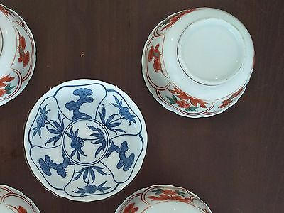 5 x Japanese hand painted small bowls