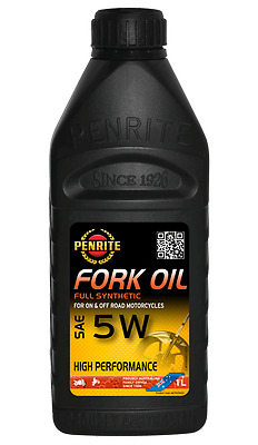 Penrite Synthetic High Performance Fork Oil 5W. 1 Litre.