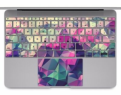 Keyboard Sticker MacBook Decal Keypad Stickers Keys Purple Geometric Poly kp107