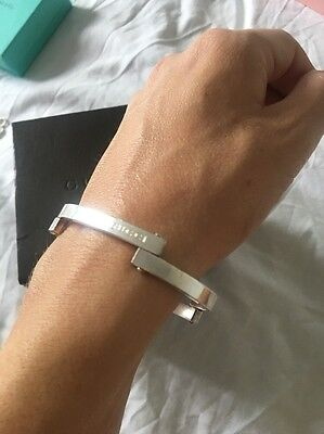 Genuine Gucci Unusual Sterling Silver Bangle Bracelet Heavy Solid Lovely
