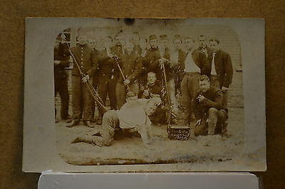 Cp - Photo Carte Postale Militaire Vive La Classe Camp De Beverloo 1904 1907 Ww
