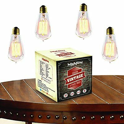 Vintage Edison Bulb Gorgeous Antique Squirrel Cage Filment Dimmable Style Light
