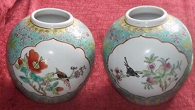 Vintage Pair Of Made In China Vases