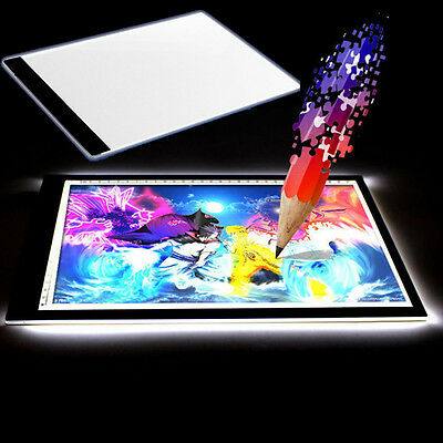 A4 Drawing Pad Tisch Schablone Display LED Tracing Licht Box Board Artist Tattoo