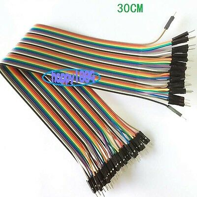 10 x 40PCS Dupont wire 30cm Cables Line Jumper 1p-1p pin Connector male to male
