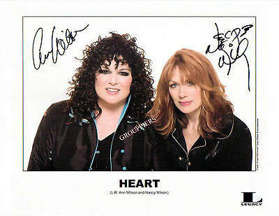 HEART ANN & NANCY WILSON signed 8x10 photo RP - SEE FREE PHOTO OFFER