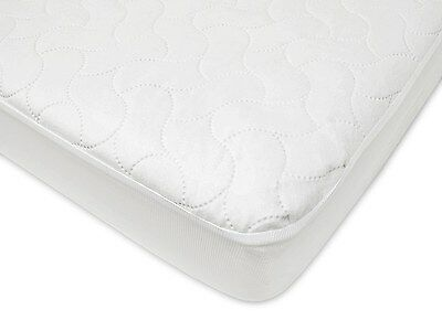 Waterproof Fitted Crib and Toddler Protective Soft Polyester Mattress Pad Cover