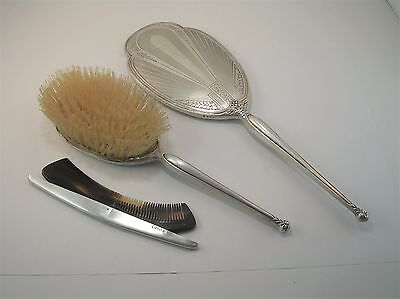 CHARLES S GREEN & CO Vintage Sterling Silver Brush, comb and hand mirror