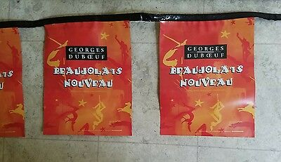 Georges Duboeuf Beaujolais Nouveau 2 Sided Wine Camp Party Banner