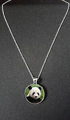 """Panda Pendant On 18"""" Silver Plated Fine Metal Chain Necklace Birthday Gift N881"""